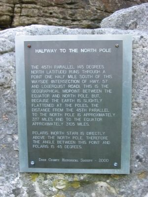 Halfway to the North Pole Marker Photo, Click for full size
