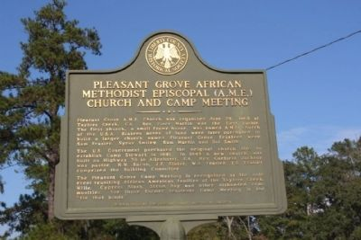 Pleasant Grove Marker image. Click for full size.
