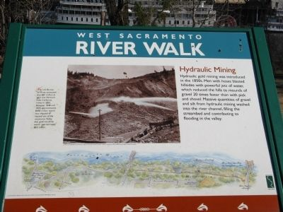 Hydraulic Mining Marker Photo, Click for full size