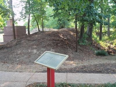 Marker at Confederate Earthworks Photo, Click for full size