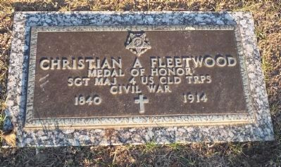 Christian Fleetwood grave marker image. Click for full size.