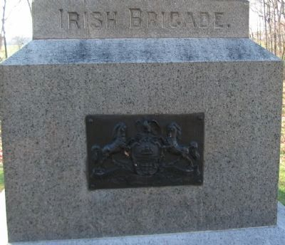 Left Side of Monument with State Coat of Arms image. Click for full size.