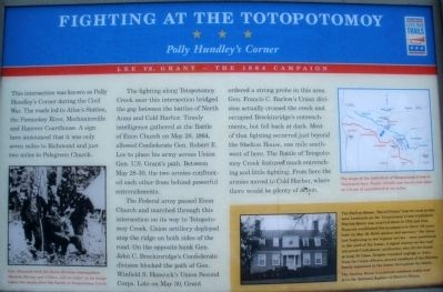 Fighting at the Totopotomoy Marker image. Click for full size.