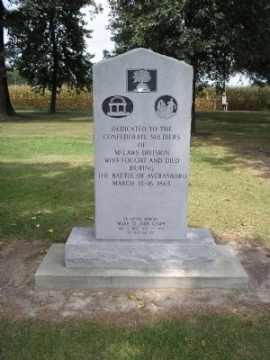 Rear of McLaws Division Marker image. Click for full size.