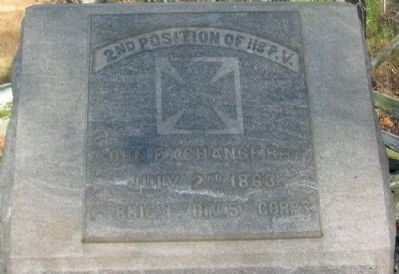 2nd Position of 118th Penn. Vols. Marker image. Click for full size.
