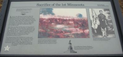 Sacrifice of the 1st Minnesota Marker image. Click for full size.