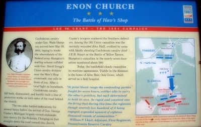 Enon Church Marker image. Click for full size.
