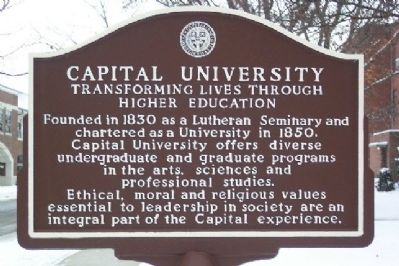 Capital University Marker Photo, Click for full size