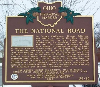 The National Road Marker (Side A) image. Click for full size.
