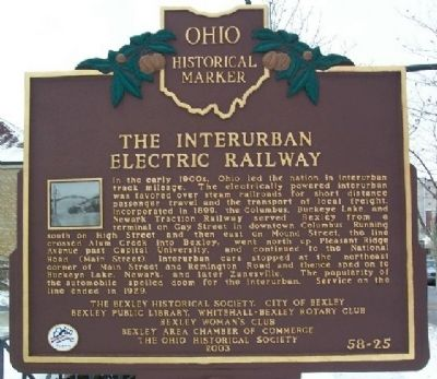 The Interurban Electric Railway Marker (Side B) image. Click for full size.