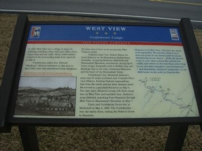 Close-up of West View Marker Photo, Click for full size