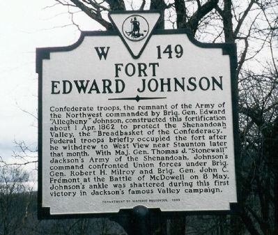 Fort Edward Johnson Marker Photo, Click for full size