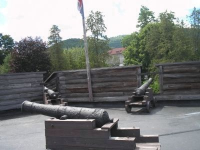 Artillery in the Northwest Bastion image. Click for full size.
