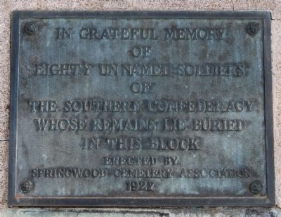 Eighty Unnamed Soldiers Marker image. Click for full size.