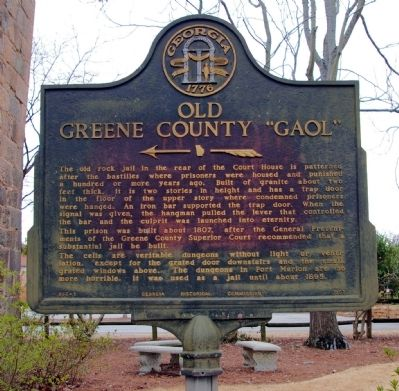 "Old Greene County ""Gaol"" Marker image. Click for full size."