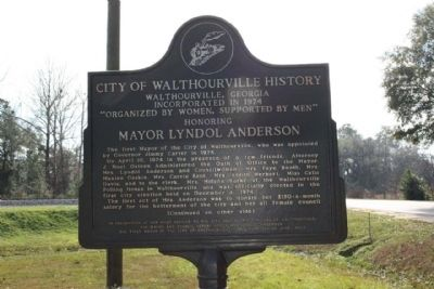 City of Walthourville History Marker Photo, Click for full size