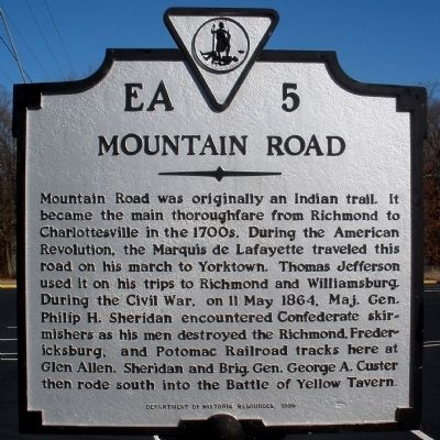 Mountain Road Marker Photo, Click for full size
