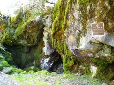 Masonic Cave Entrance and Marker Photo, Click for full size