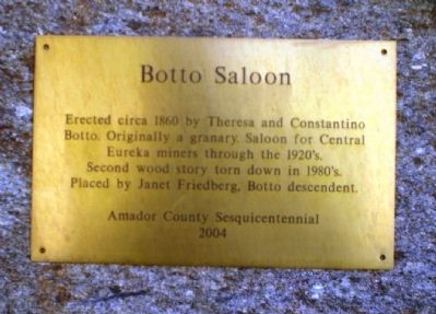 Botto Saloon Marker Photo, Click for full size