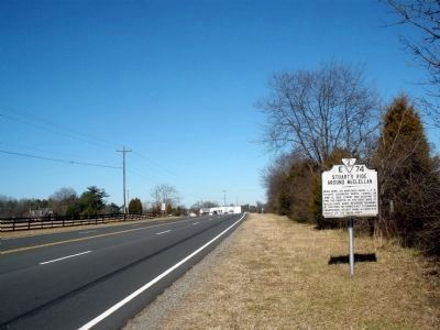 Stuart's Ride Around McClellan Marker on US Rt 1 (facing north) image. Click for full size.