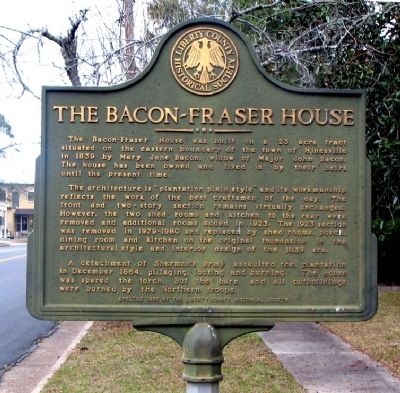 The Bacon-Fraser House Marker Photo, Click for full size