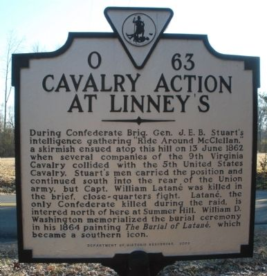 Cavalry Action At Linney's Marker image. Click for full size.