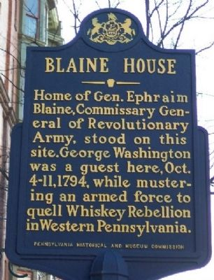 Blaine House Marker image. Click for full size.