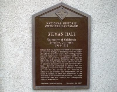 Gilman Hall Marker Photo, Click for full size
