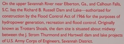 Richard B. Russell Dam Marker Photo, Click for full size