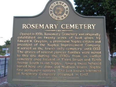 Rosemary Cemetery Marker image. Click for full size.