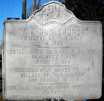 """The Old Church"" Marker Photo, Click for full size"