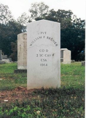William F. Bruner's headstone Photo, Click for full size