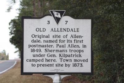 Old Allendale Marker Photo, Click for full size