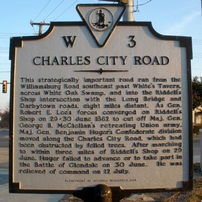 Charles City Road Marker image. Click for full size.