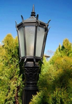 Gassaway Mansion -<br>Light Post image. Click for full size.