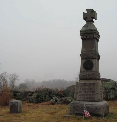 Battery C, 1st New York Light Artillery Monument image. Click for full size.