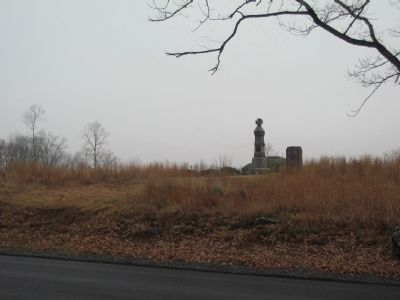 Monuments at the South end of Cemetery Ridge image. Click for full size.