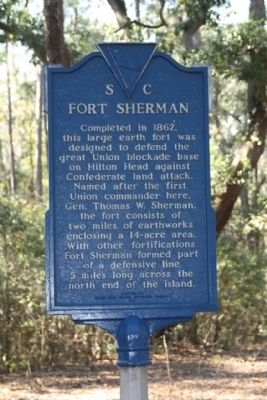 Fort Sherman Marker image. Click for full size.