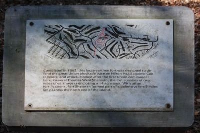 Fort Sherman Marker, named after the other General Sherman Photo, Click for full size