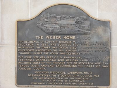 Weber Point Home – 1850 Marker Photo, Click for full size
