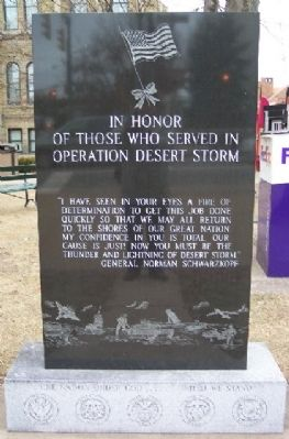 Guernsey County Desert Storm Memorial Photo, Click for full size