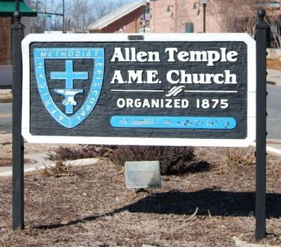 Allen Temple AME Church Sign image. Click for full size.