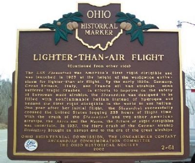 Lighter-Than-Air Flight Marker Photo, Click for full size