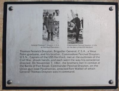 Thomas Fenwick Drayton ,from Interpretive marker at Ft.Walker site, Port Royal Plantation image. Click for full size.