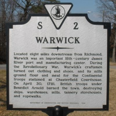 Warwick Marker Photo, Click for full size