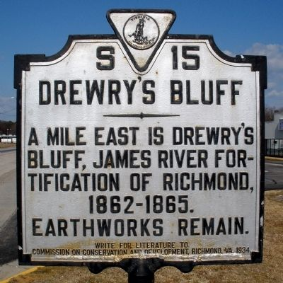 Drewry's Bluff Marker Photo, Click for full size