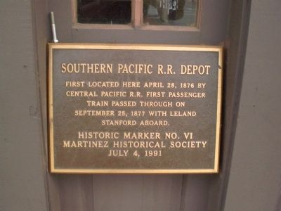 Southern Pacific R.R. Depot Marker Photo, Click for full size