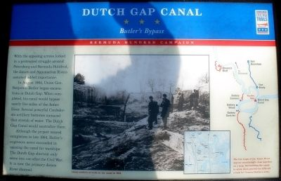 Dutch Gap Canal Civil War Trails Marker image. Click for full size.