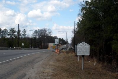 Proctor's Creek Fight Marker on Jeff Davis Highway facing north image. Click for full size.
