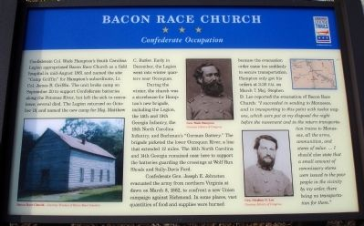 Bacon Race Church Marker image. Click for full size.